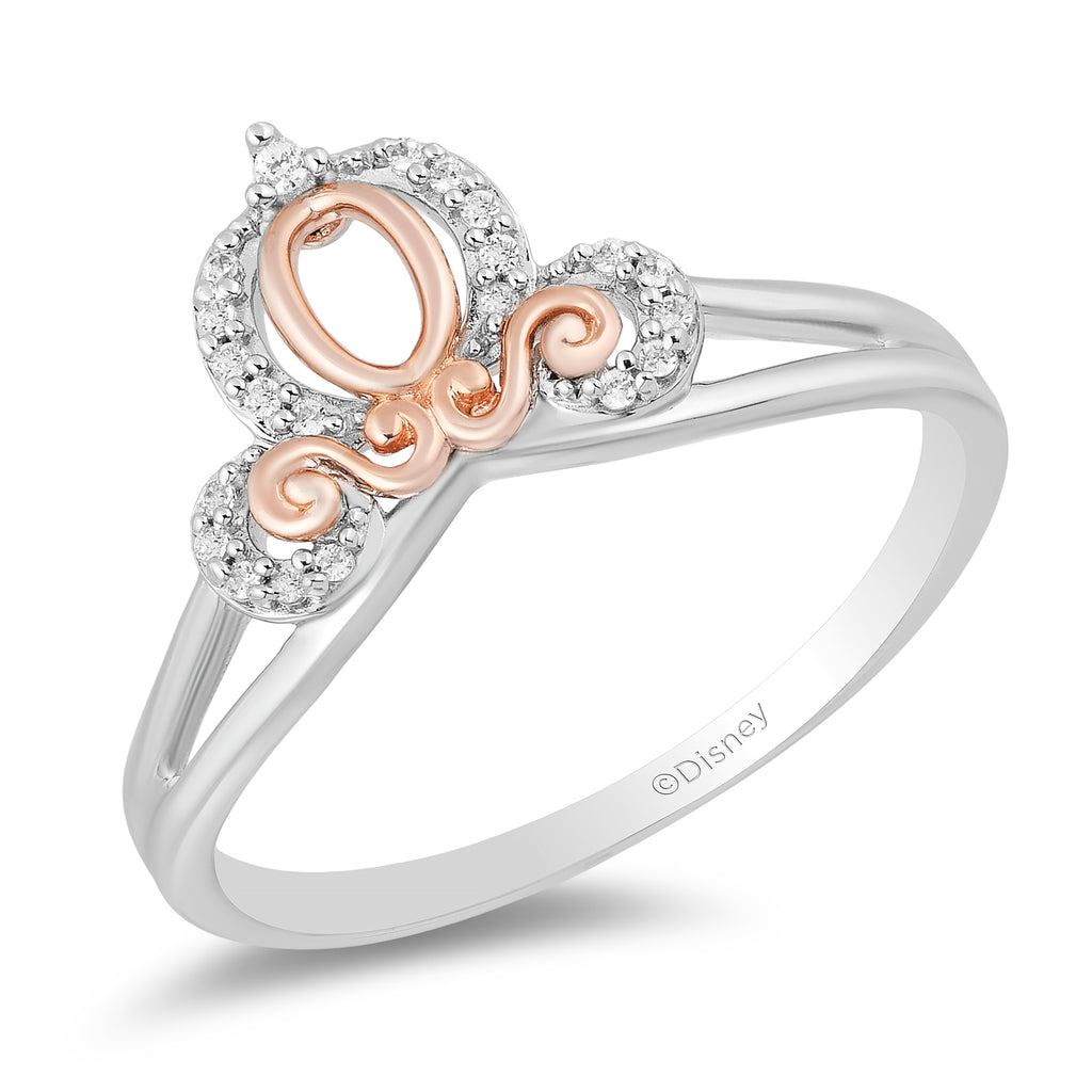 Cinderella Carriage Ring With Diamonds