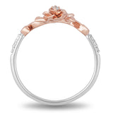Belle Rose Ring with 1/20 CTTW Diamonds