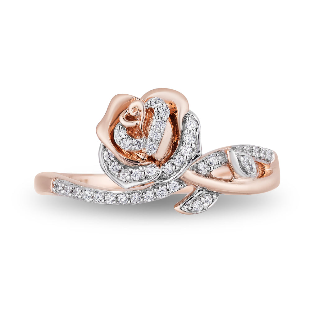 Belle Rose Ring with 0.14 CTTW Diamonds