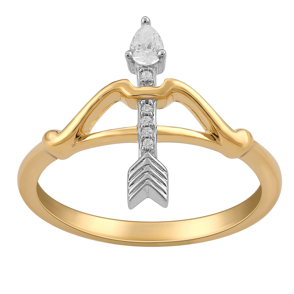 Merida Bow and Arrow Ring with 1/20 cttw Diamonds*