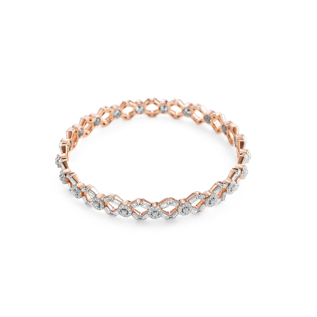 Scatter Waltz Alvina Diamond Bangle*