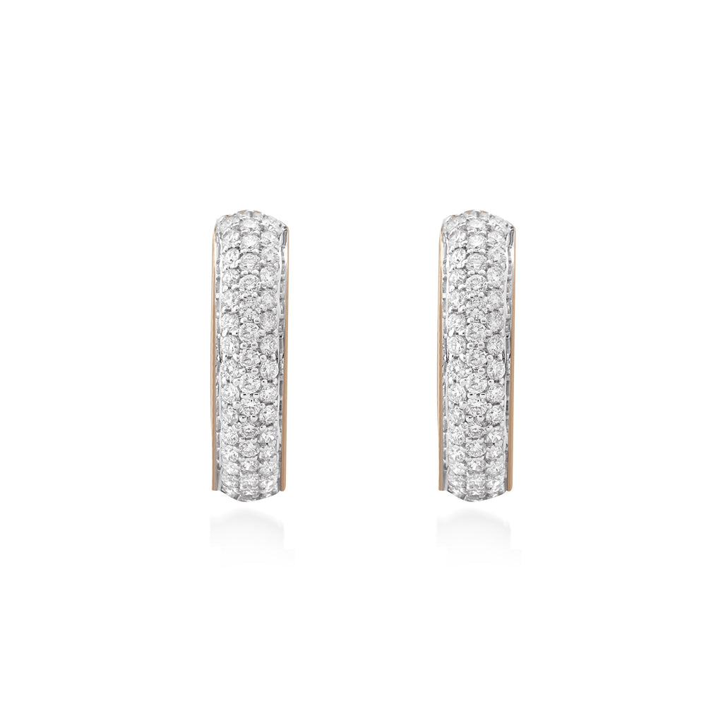 Circled Maya Diamond Earrings