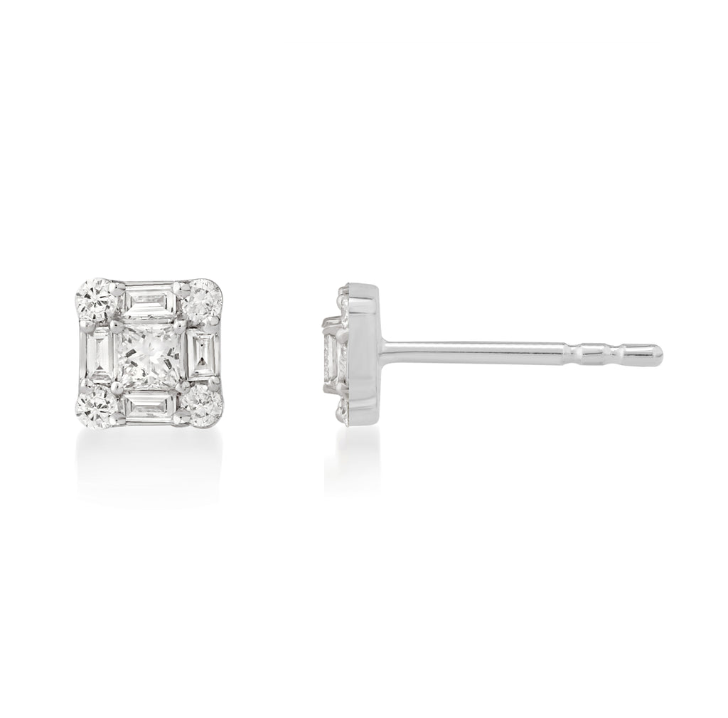 Tau Diamond Earrings