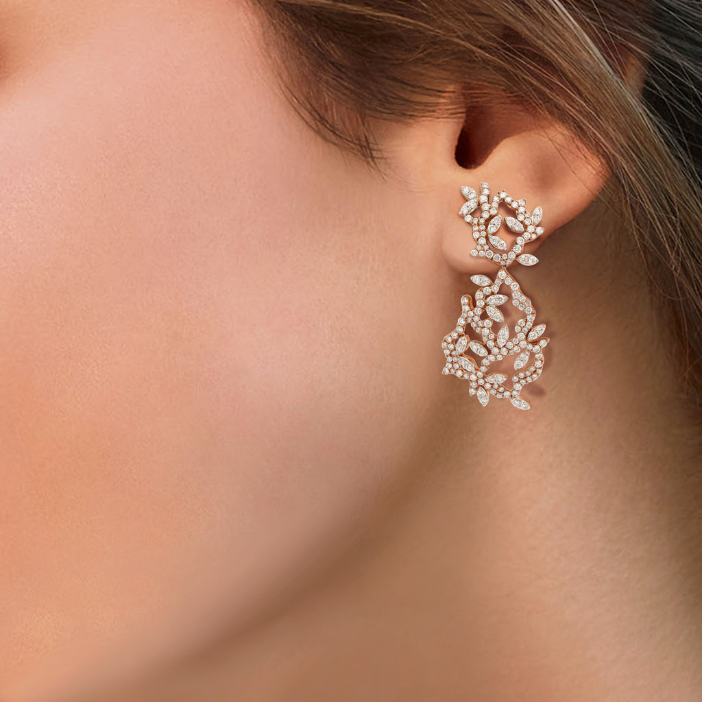 Lady Earth Vine Diamond Earrings