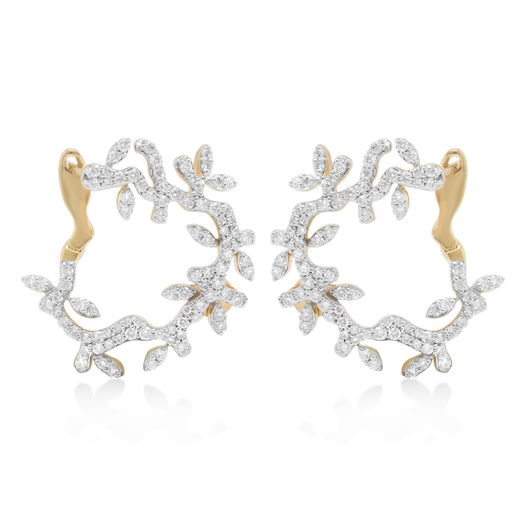 Lady Earth Tendril Diamond Earrings