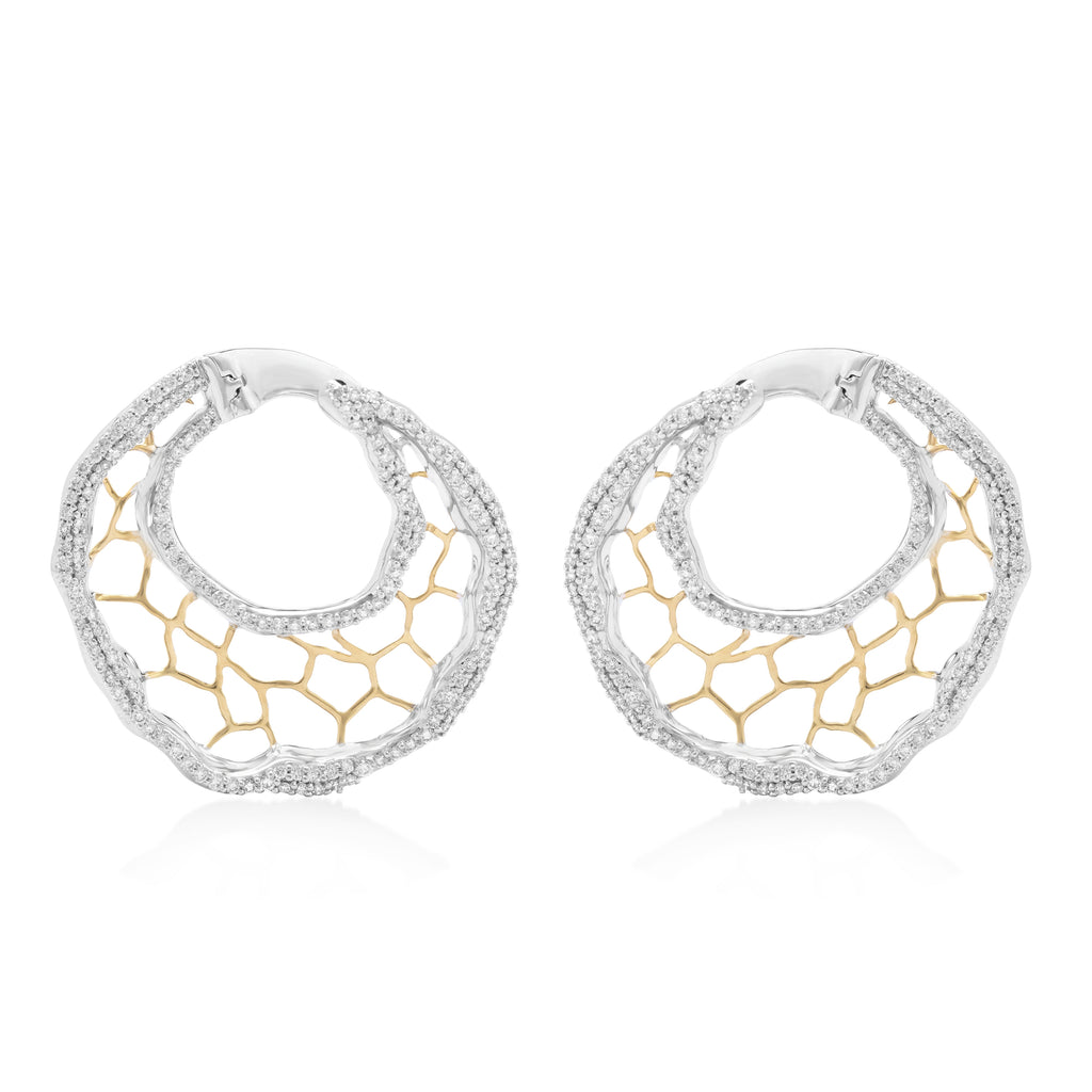 Elements Veined Diamond Earrings