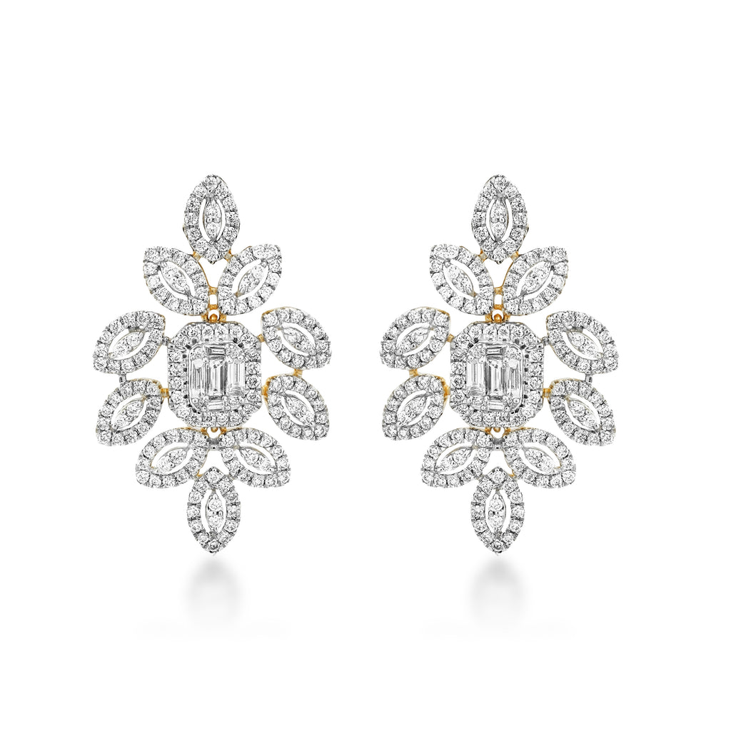 Pluma Diamond Earrings