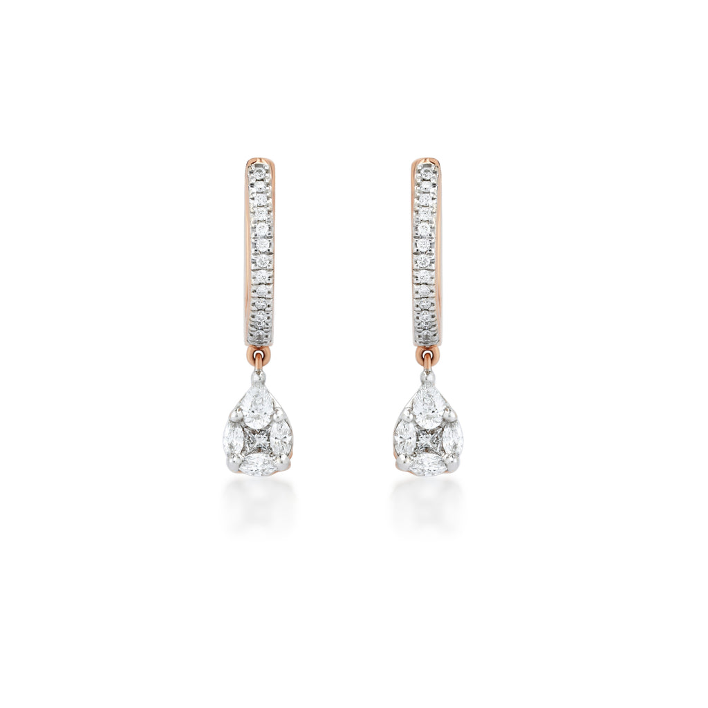 Dewy Diamond Earrings