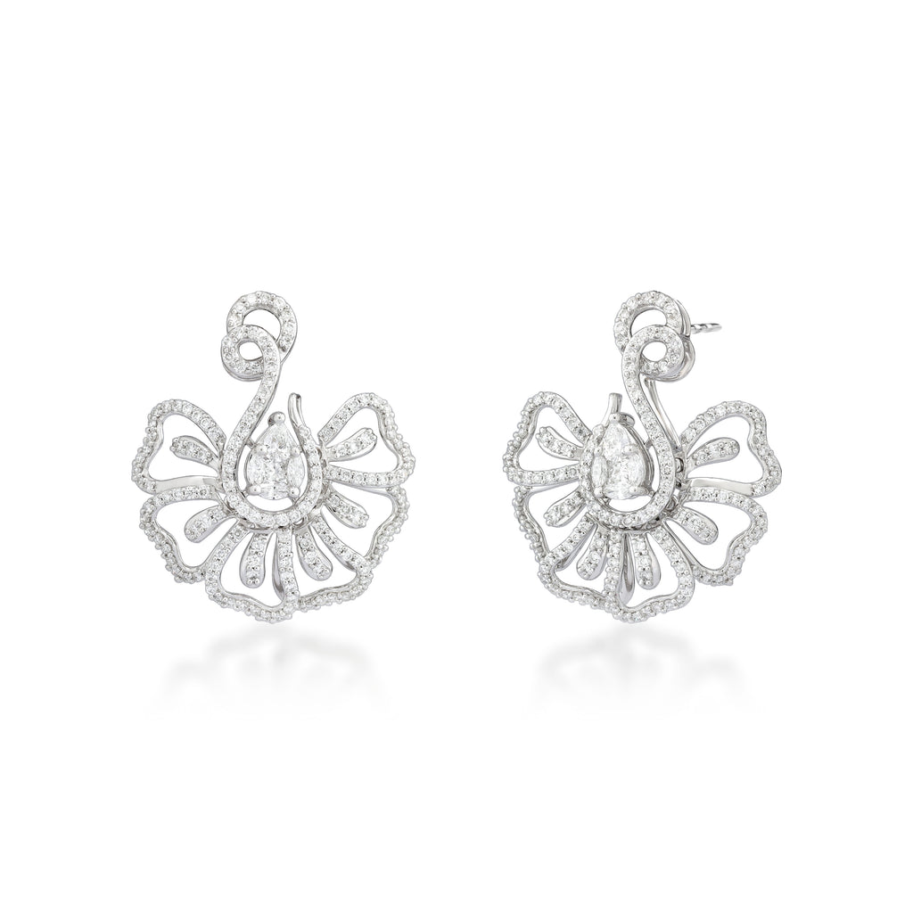 One Floret Diamond Earrings