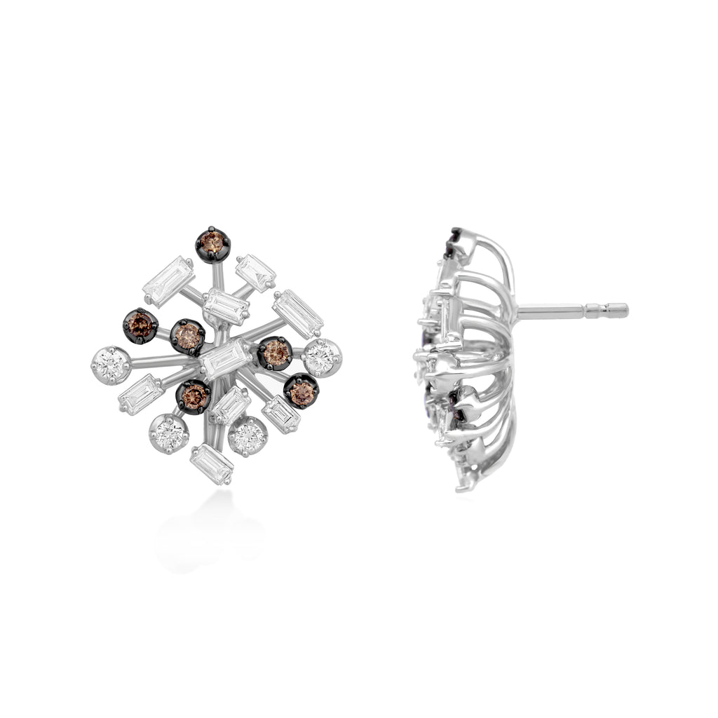 Scatter Waltz Melange Diamond Earrings*