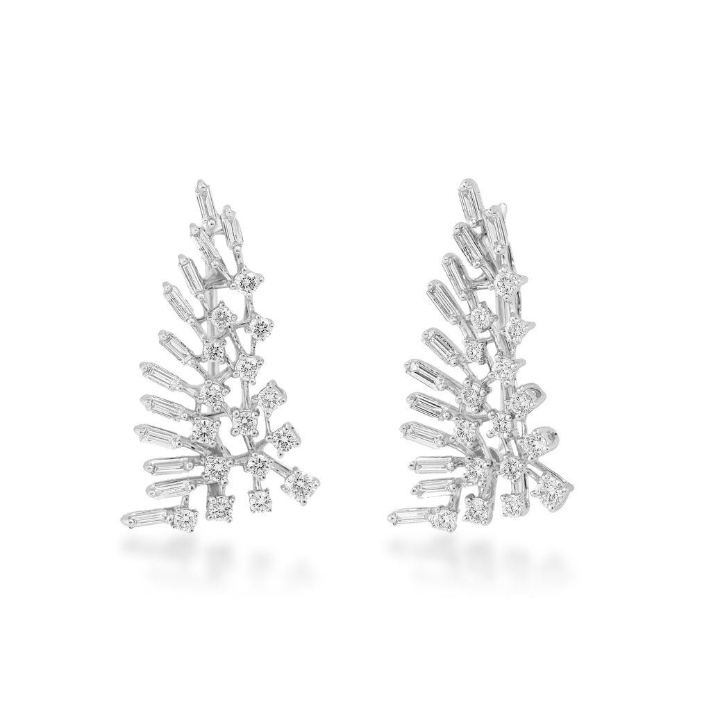 Scatter Waltz Harp Diamond Earrings
