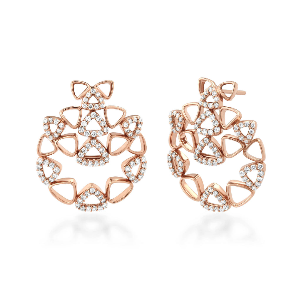 Elements Cluster Diamond Earrings
