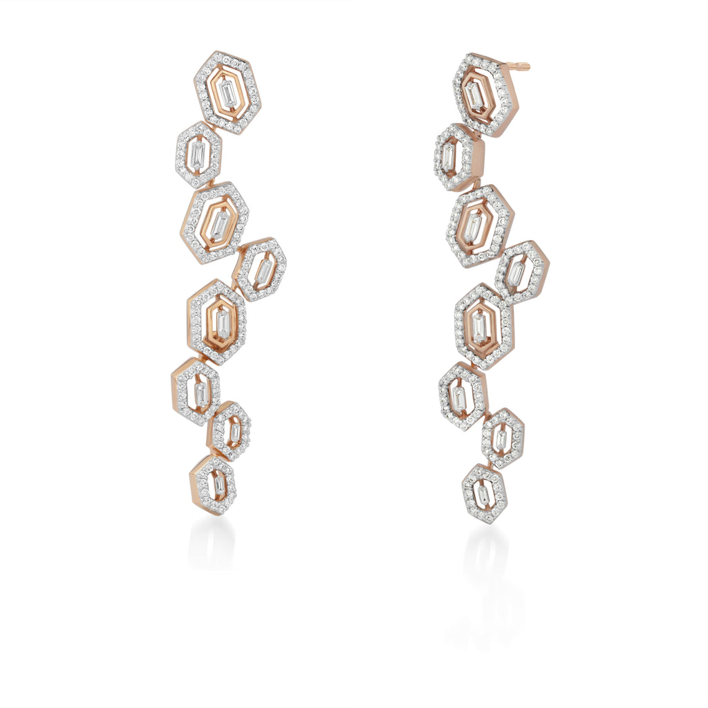 Regalia Baguetta Diamond Earrings