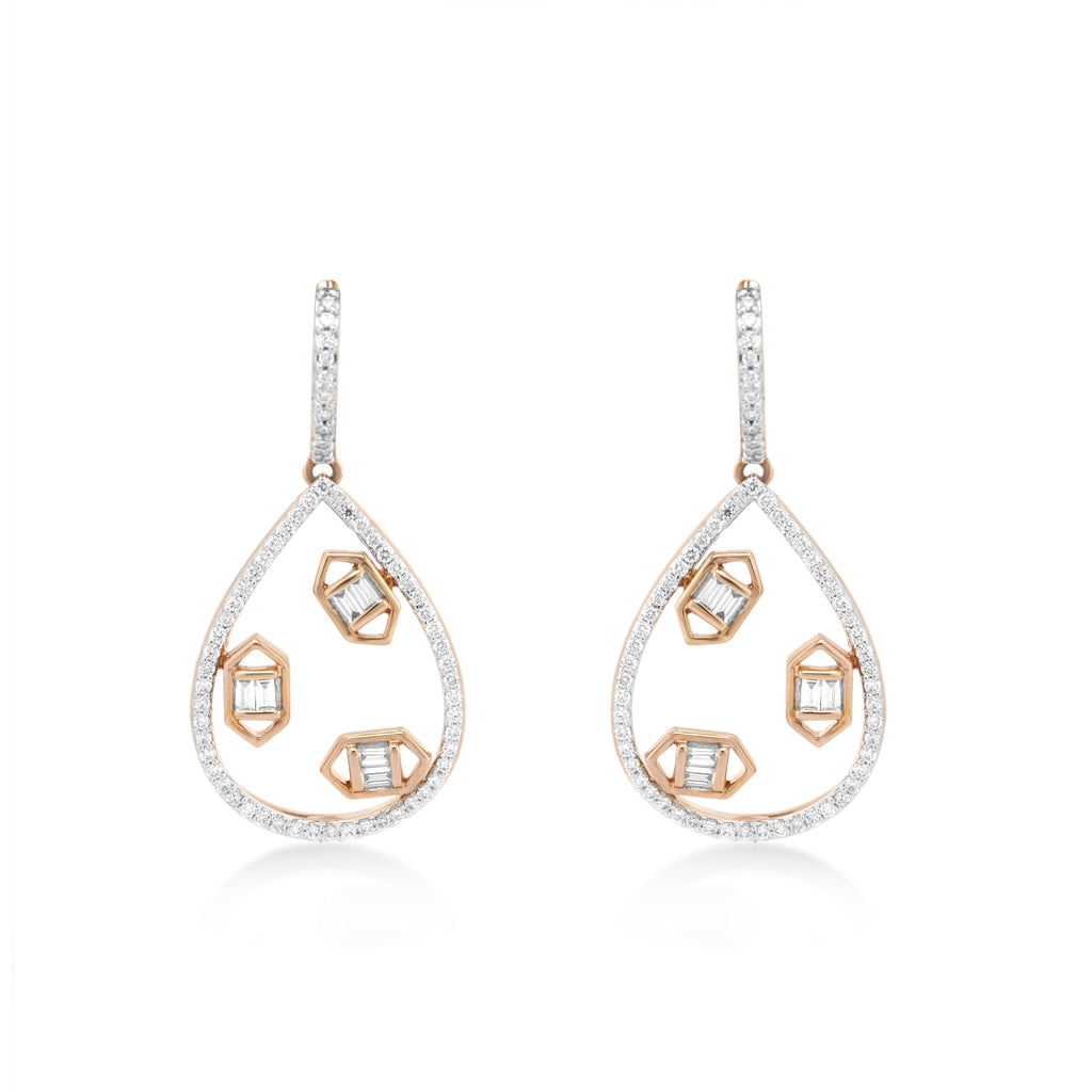 Regalia Trinity Diamond Earrings