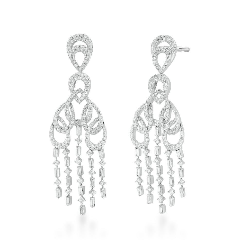 Freeflowing Chardonnay Diamond Earrings*