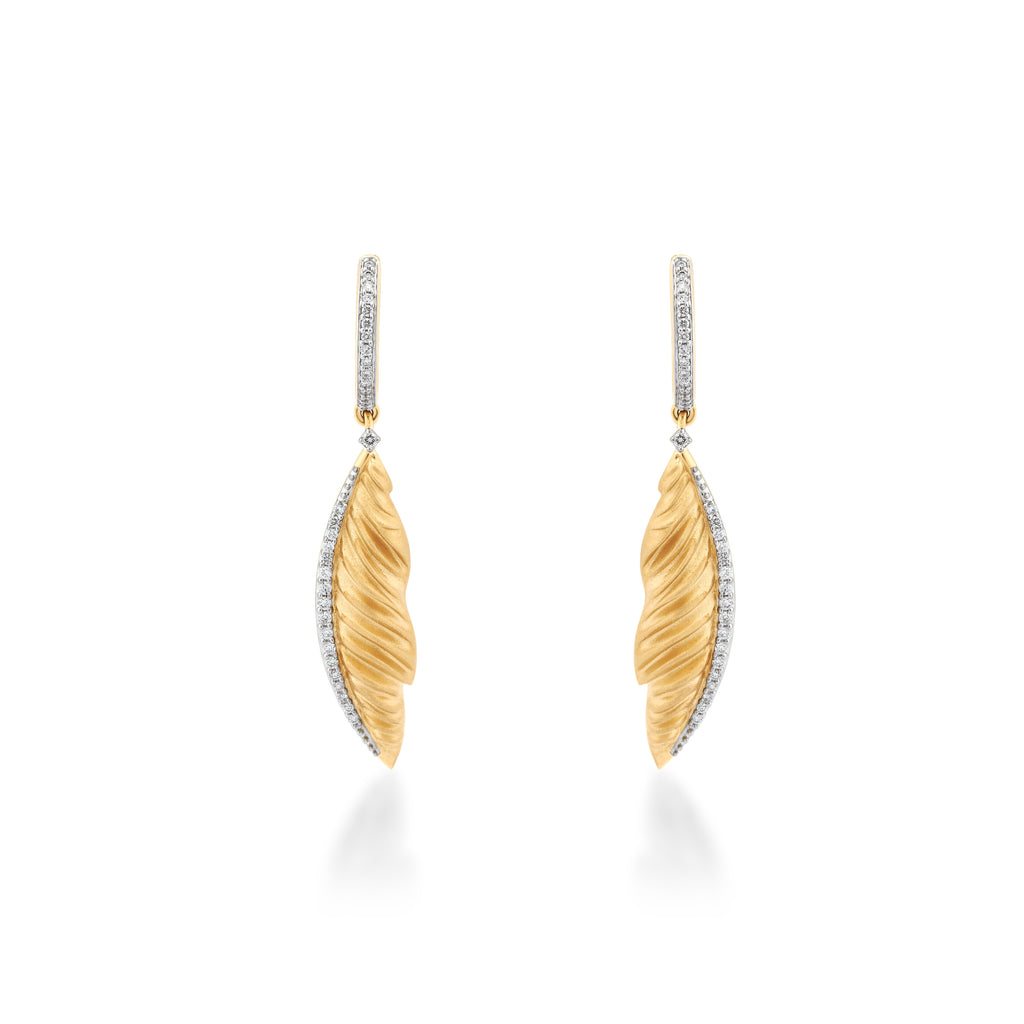 Skyward Bound Quill Diamond Earrings