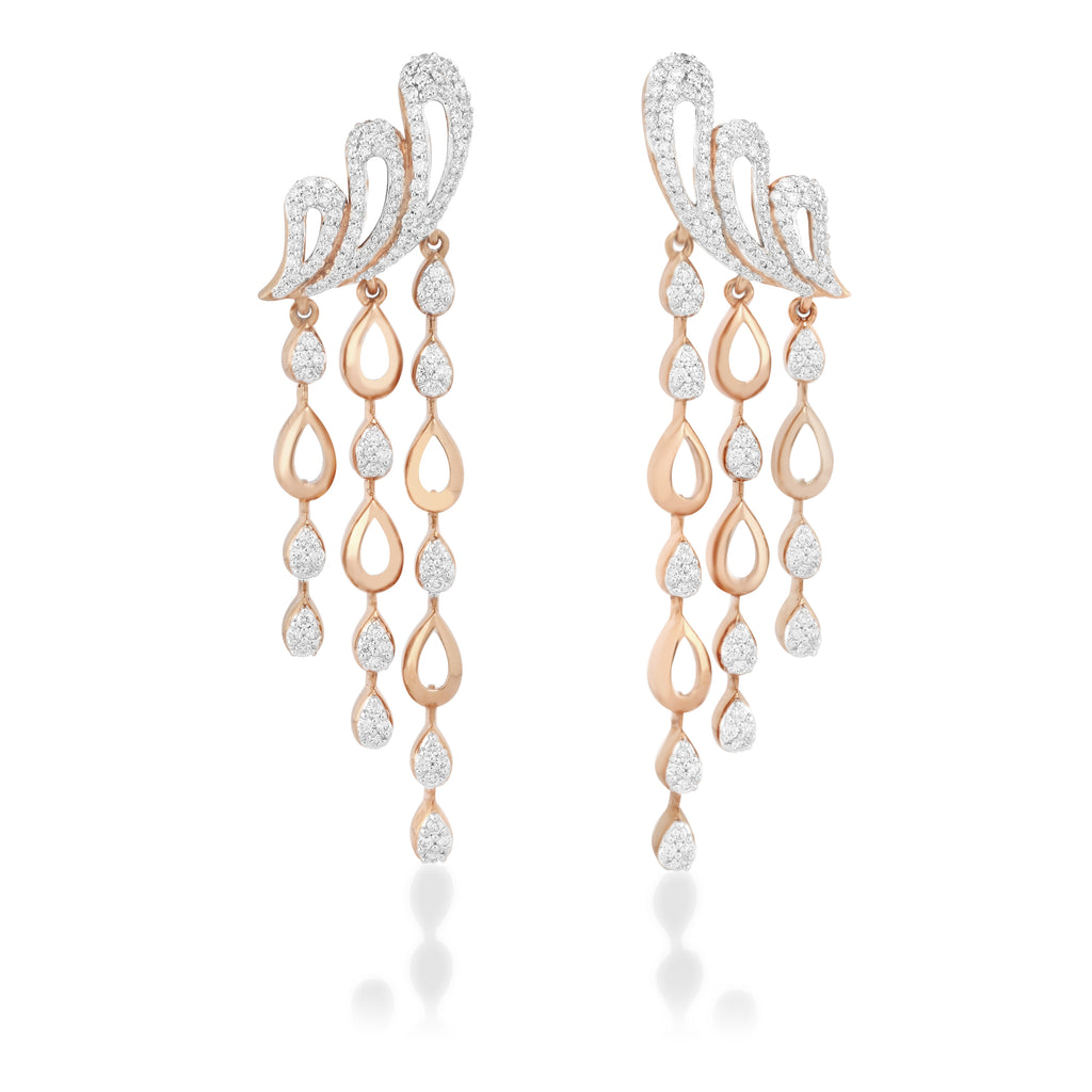 Freeflowing Torrent Diamond Earrings