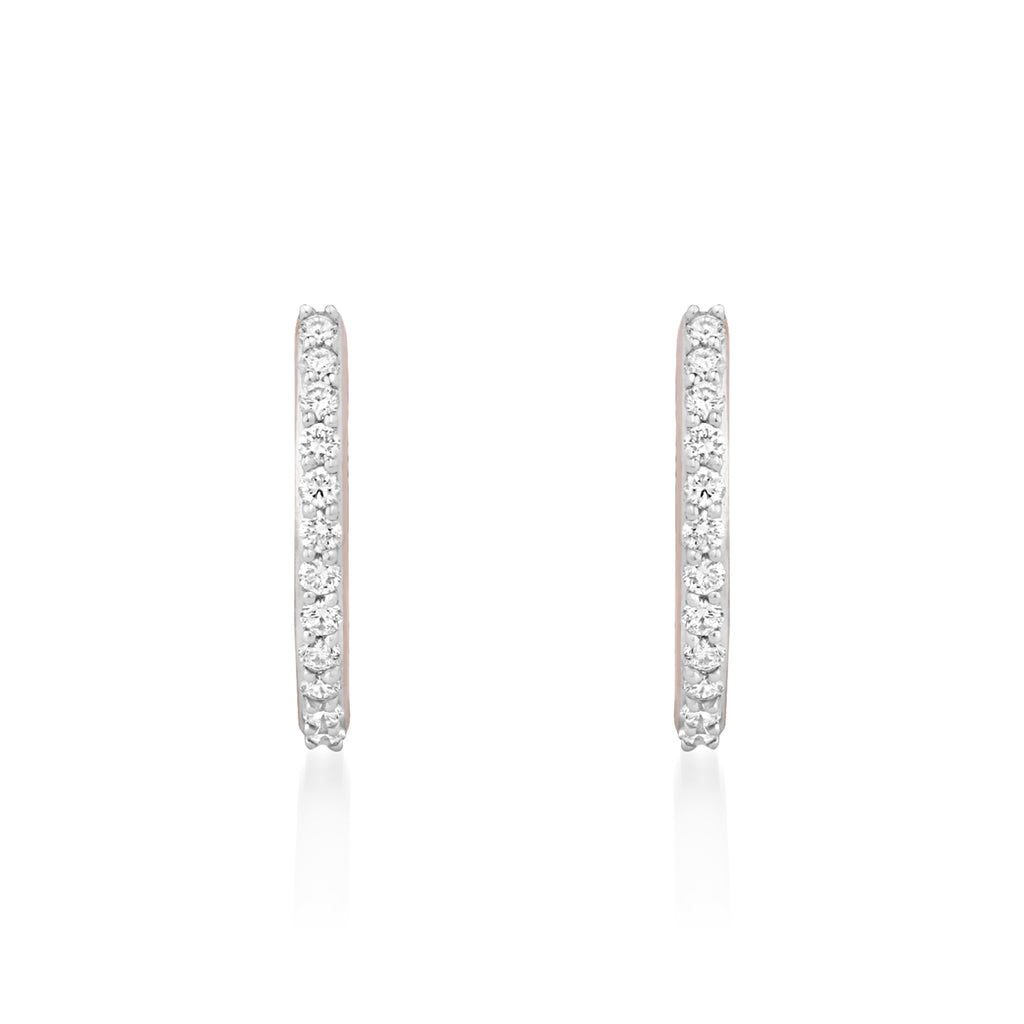 Circled Orion Diamond Earrings