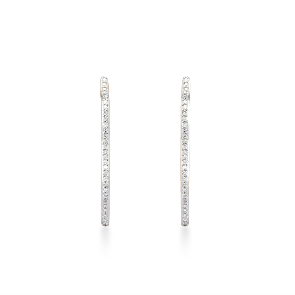 Circled Penta Diamond Earrings