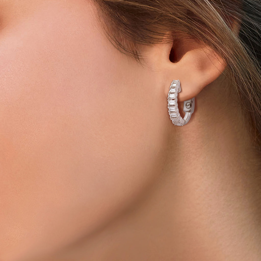 Circled Clique Diamond Earrings