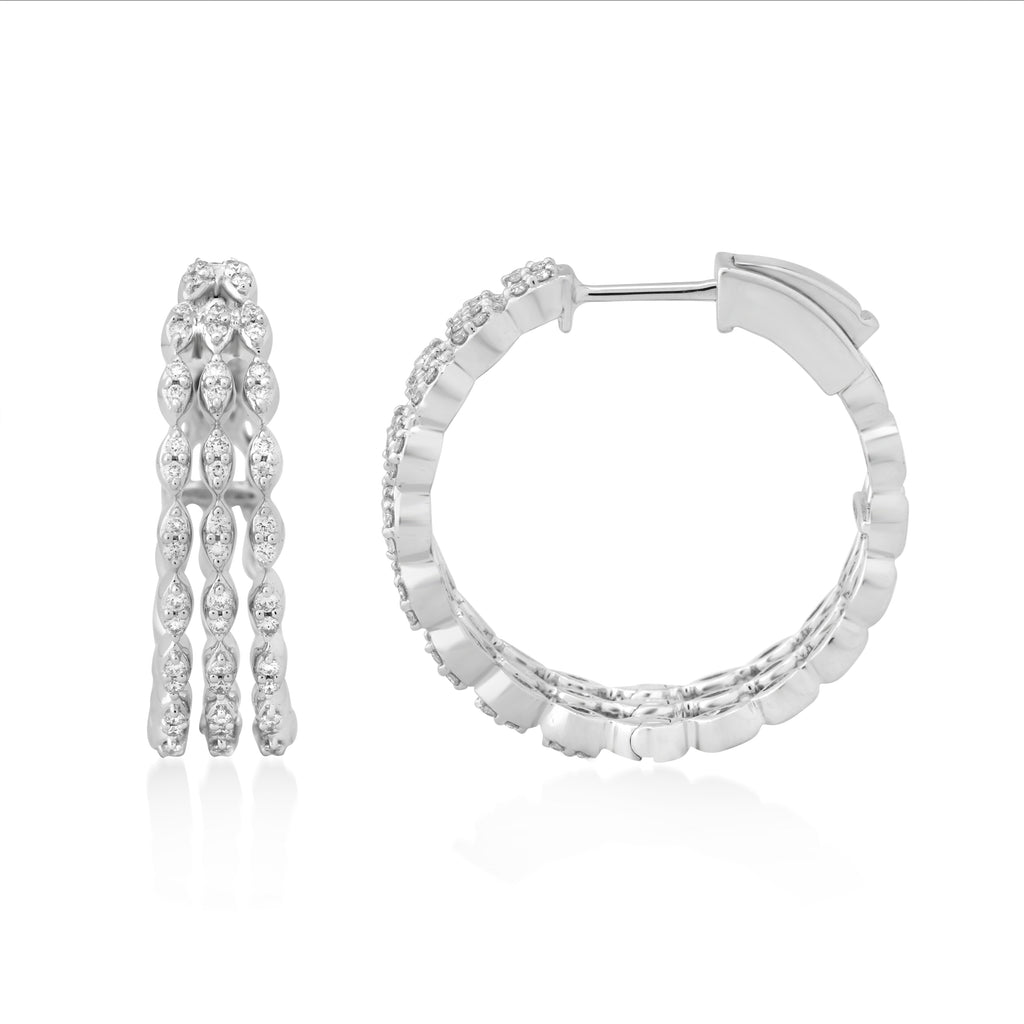 Circled Complete Diamond Earrings