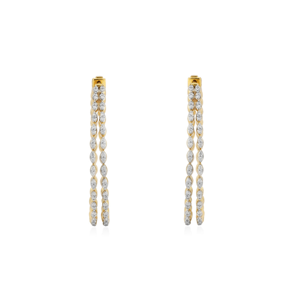 Circled Concentric Diamond Earrings