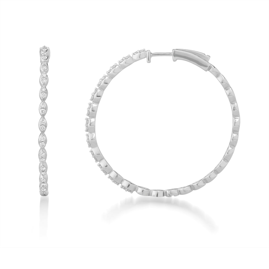 Circled Trimmed Diamond Earrings