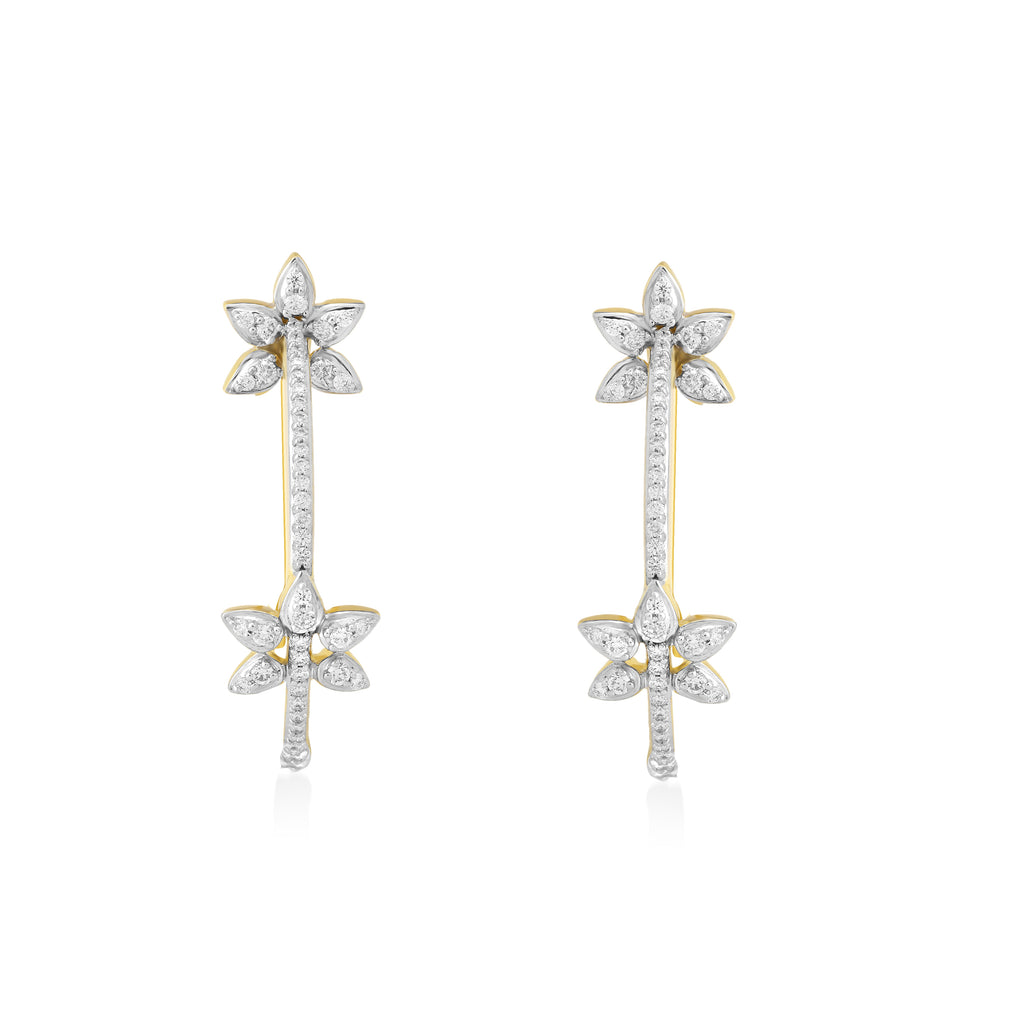 Circled Links Diamond Earrings