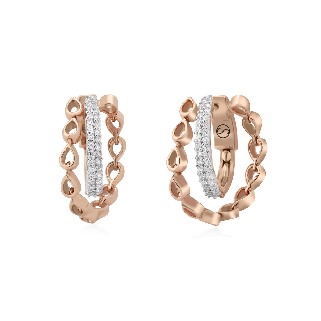 Circled Sequence Diamond Earrings