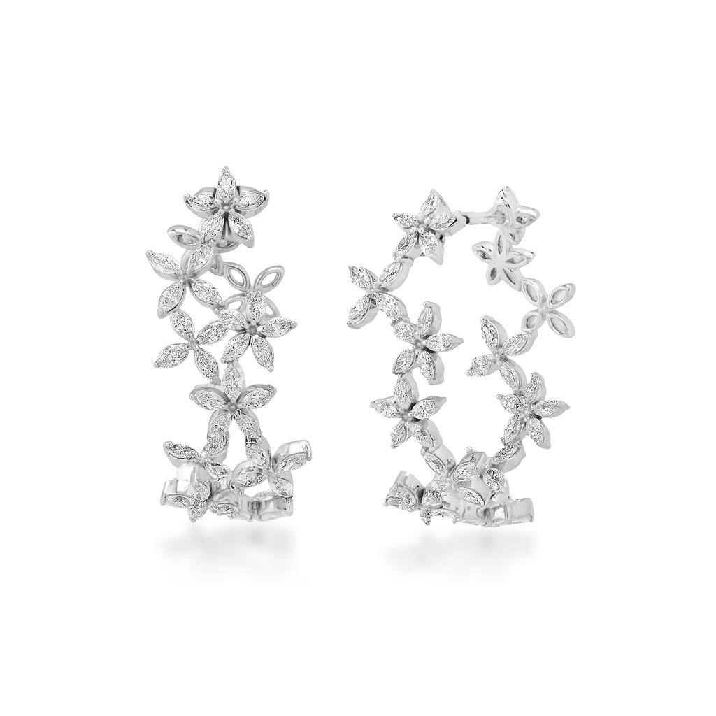 Circled Crown Diamond Earrings