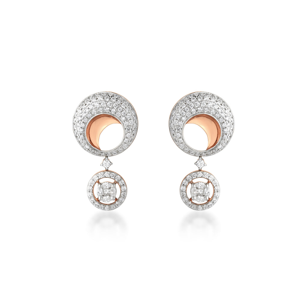 One Circlet Diamond Earrings
