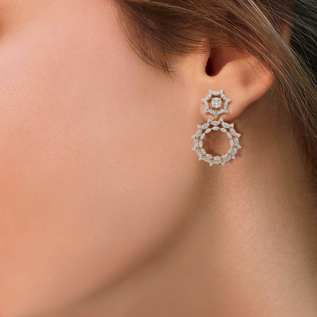 One Sunflare Diamond Earrings