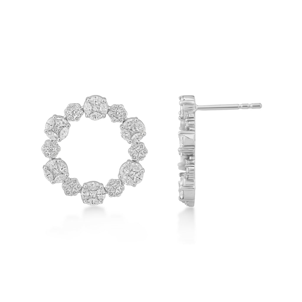 One Alula Diamond Earrings*