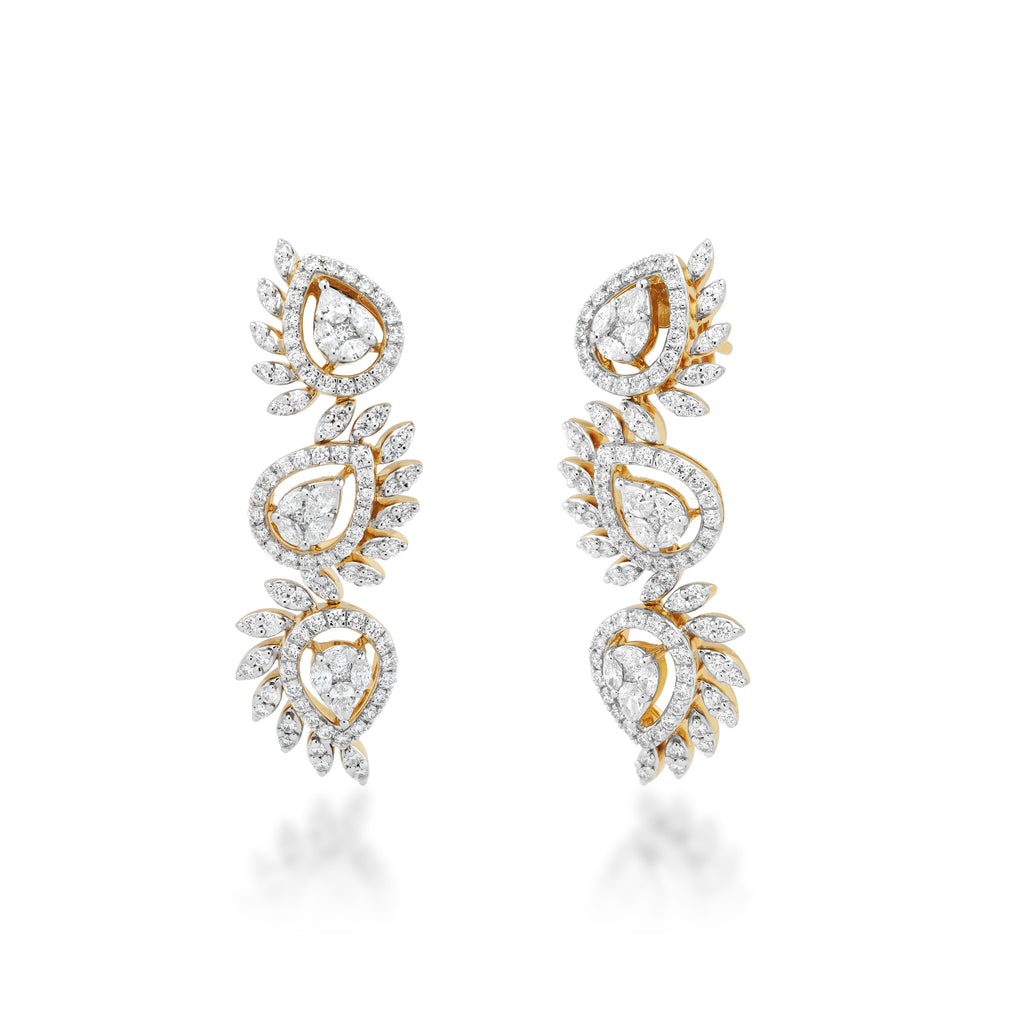One Lustrous Diamond Earrings