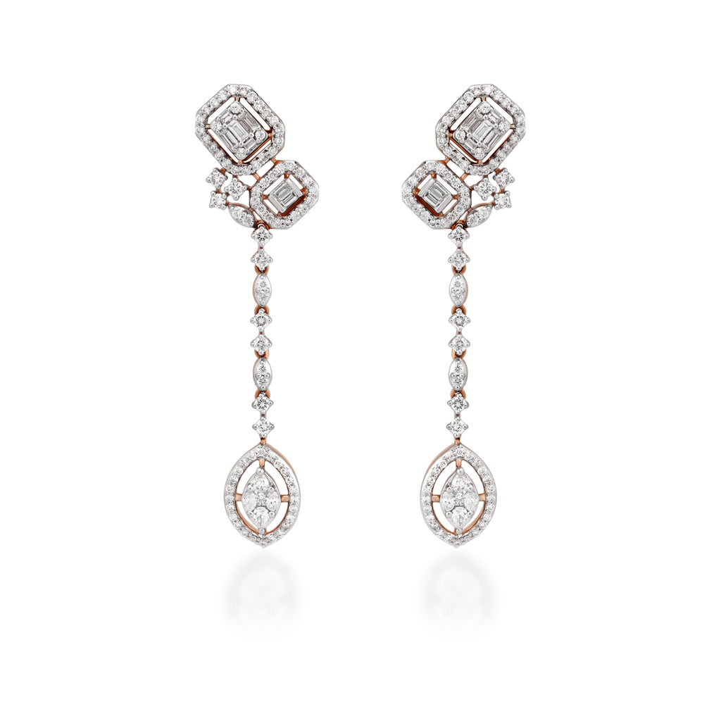 One Teardrop Diamond Earrings
