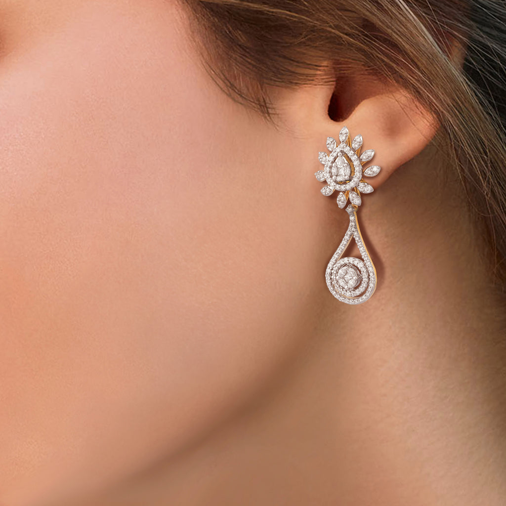 One Flare Diamond Earrings