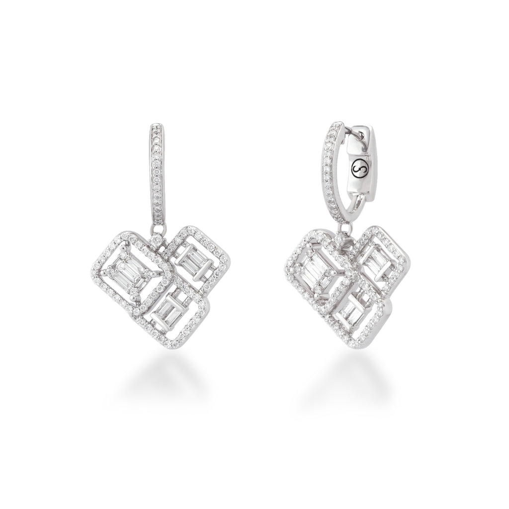 One Soveriegn Diamond Earrings