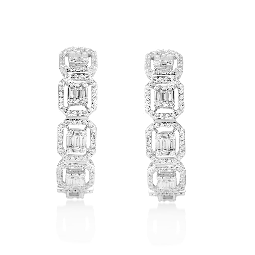 Circled Ivanna Diamond Earrings*