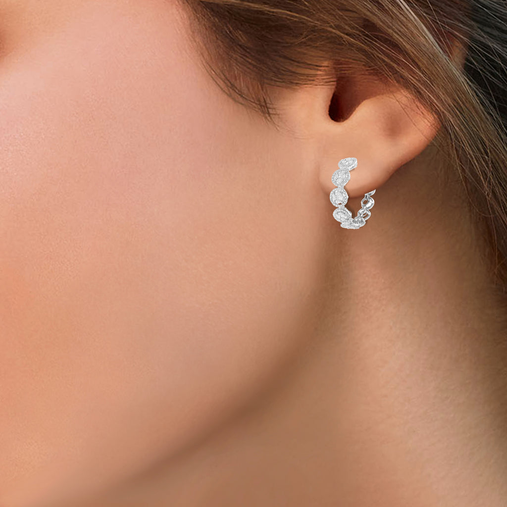 Circled Alyssum Diamond Earrings*