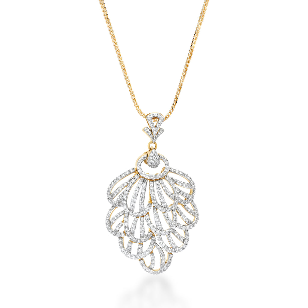 Skyward Bound Fantail Diamond Pendant