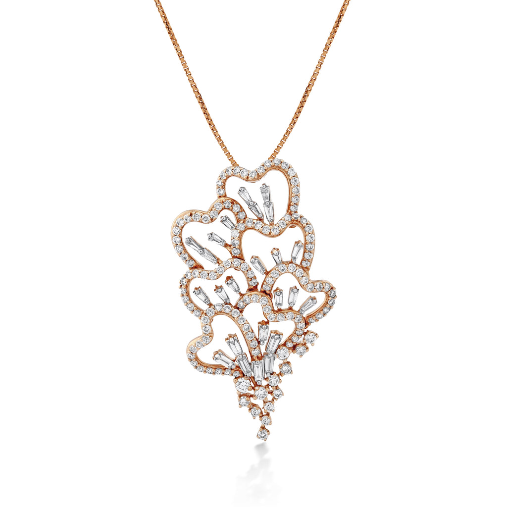 Scatter Waltz Disorder Diamond Pendant