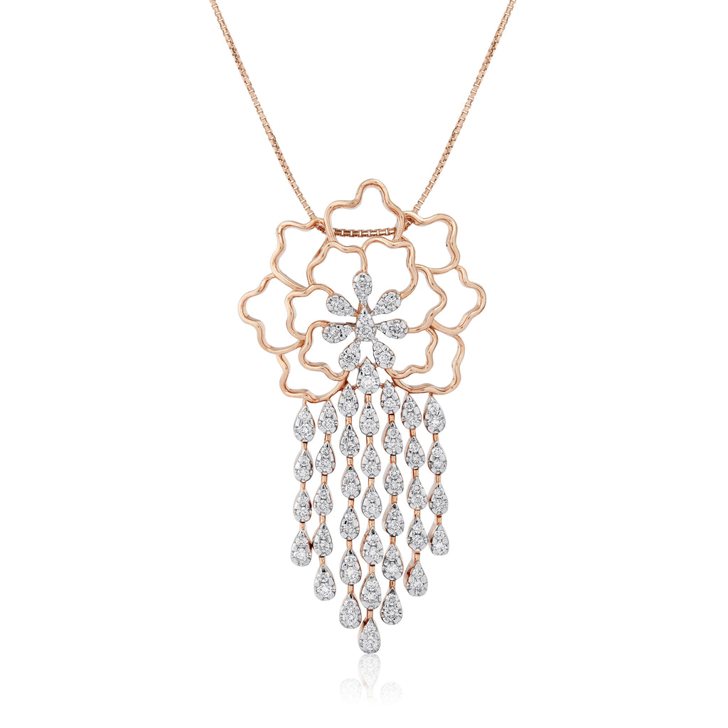 Freeflowing Cascade Diamond Pendant