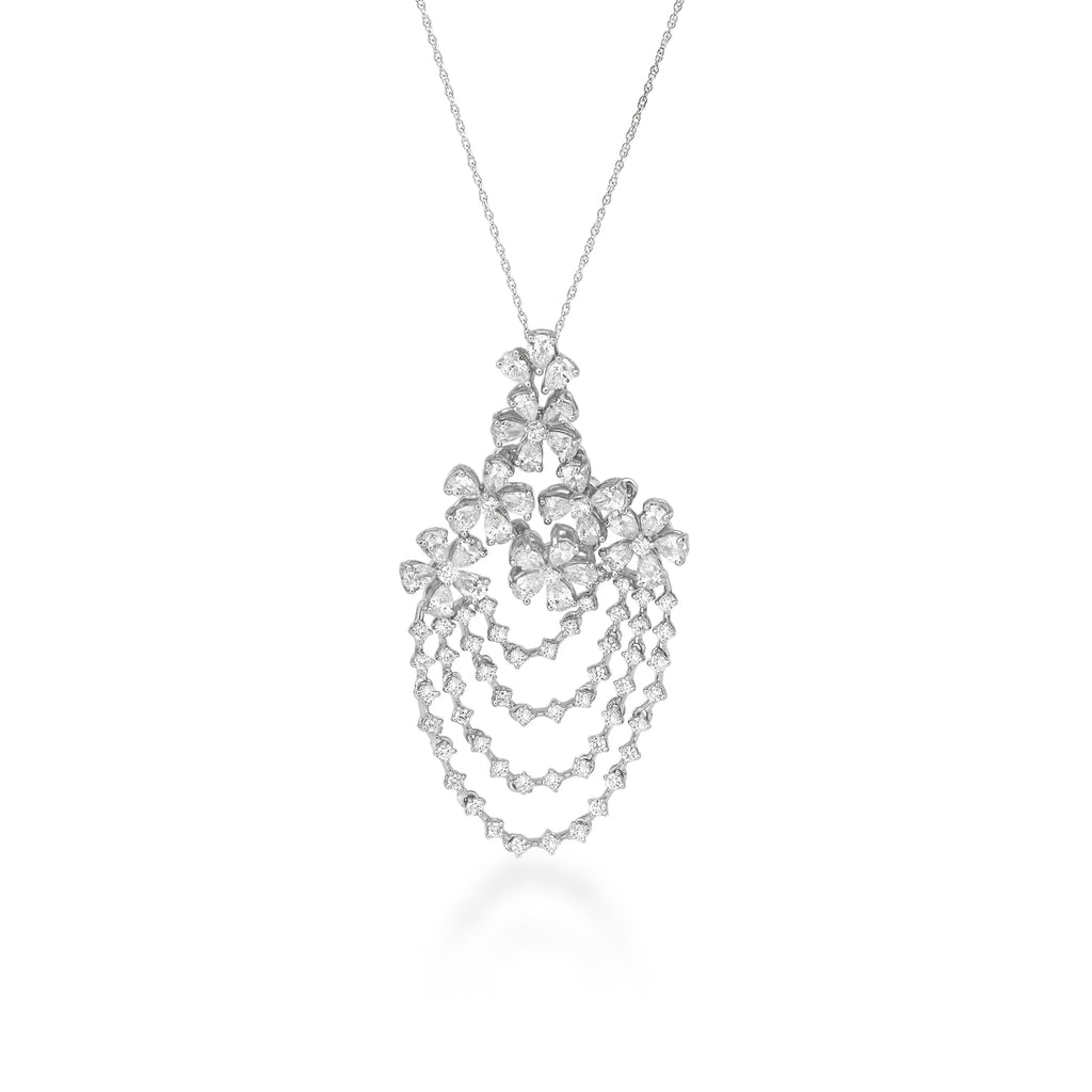 Freeflowing Gush Diamond Pendant
