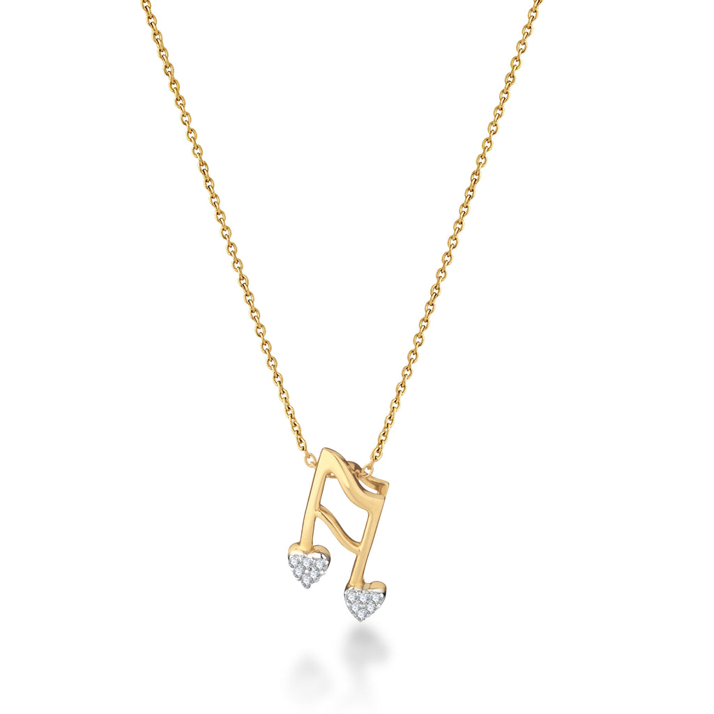 Treble Love Diamond Pendant