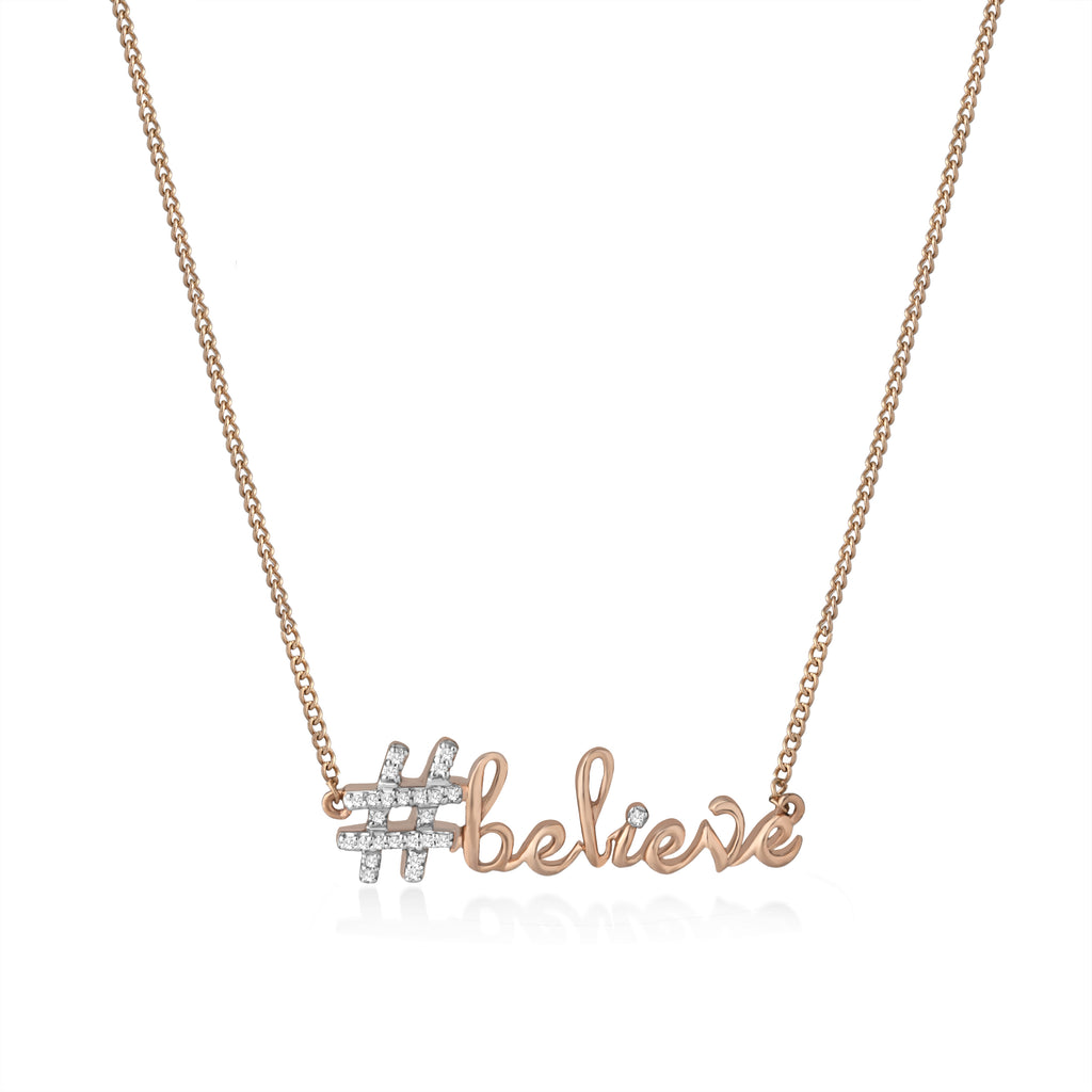Believe Diamond Pendant