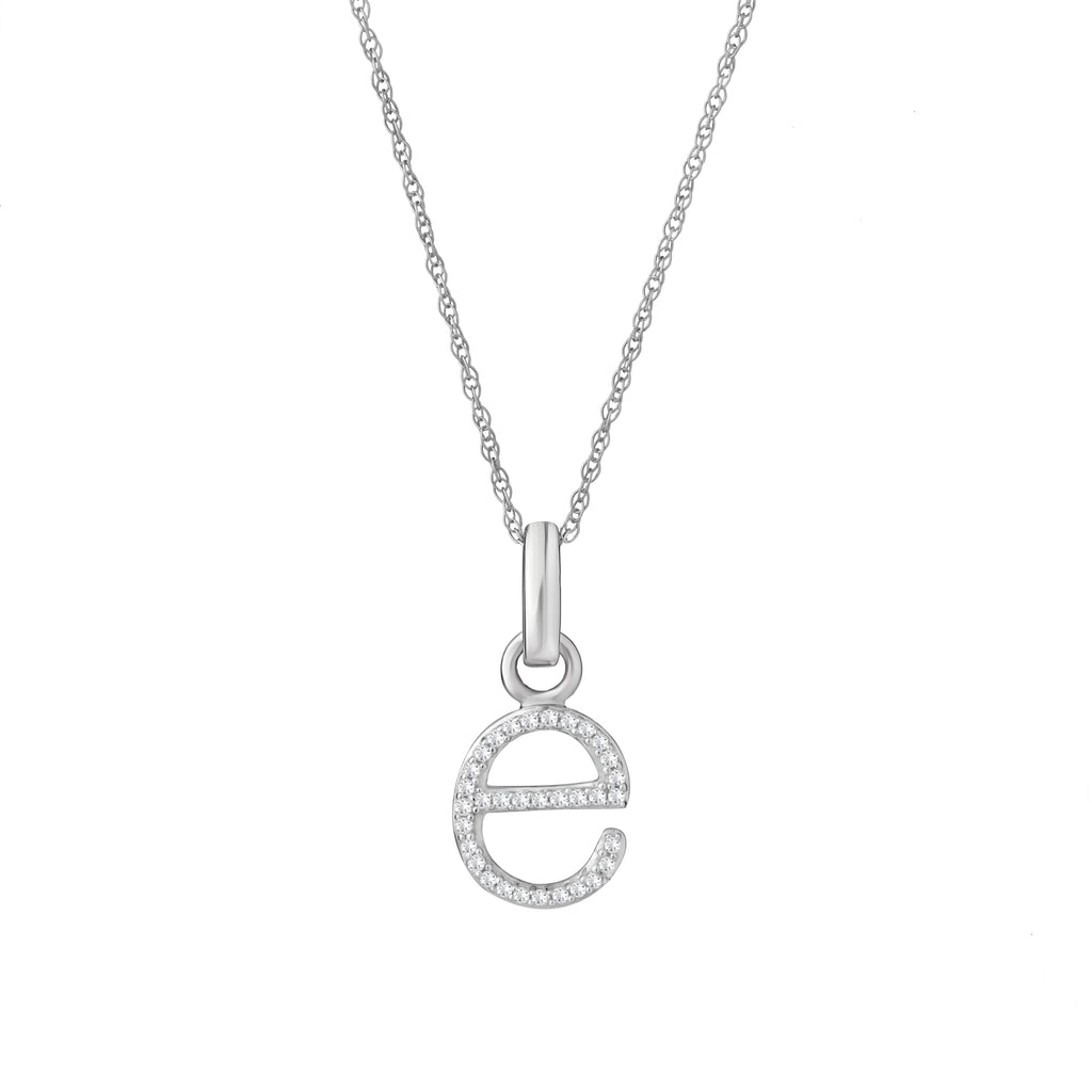 E Diamond Pendant