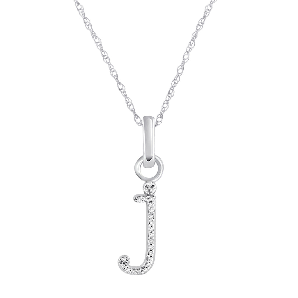 J Diamond Pendant