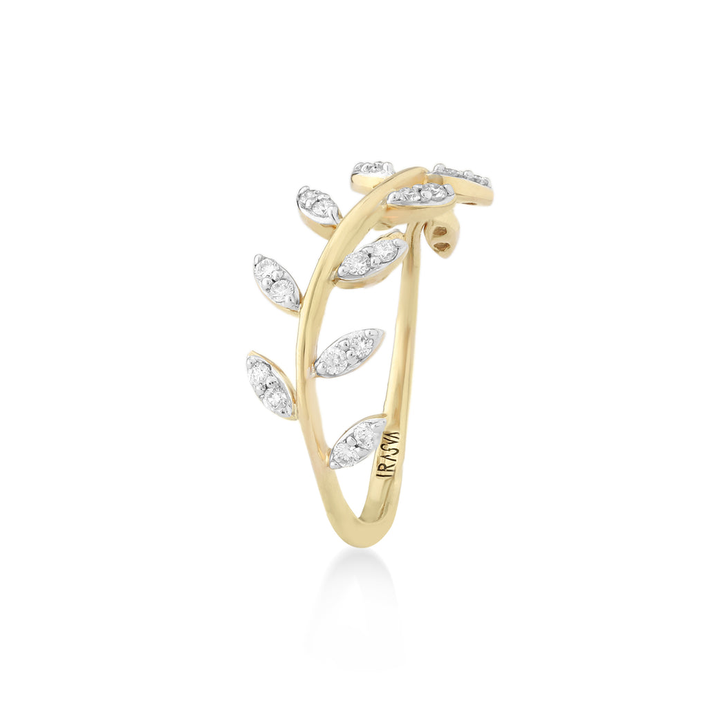 Feuille Diamond Ring