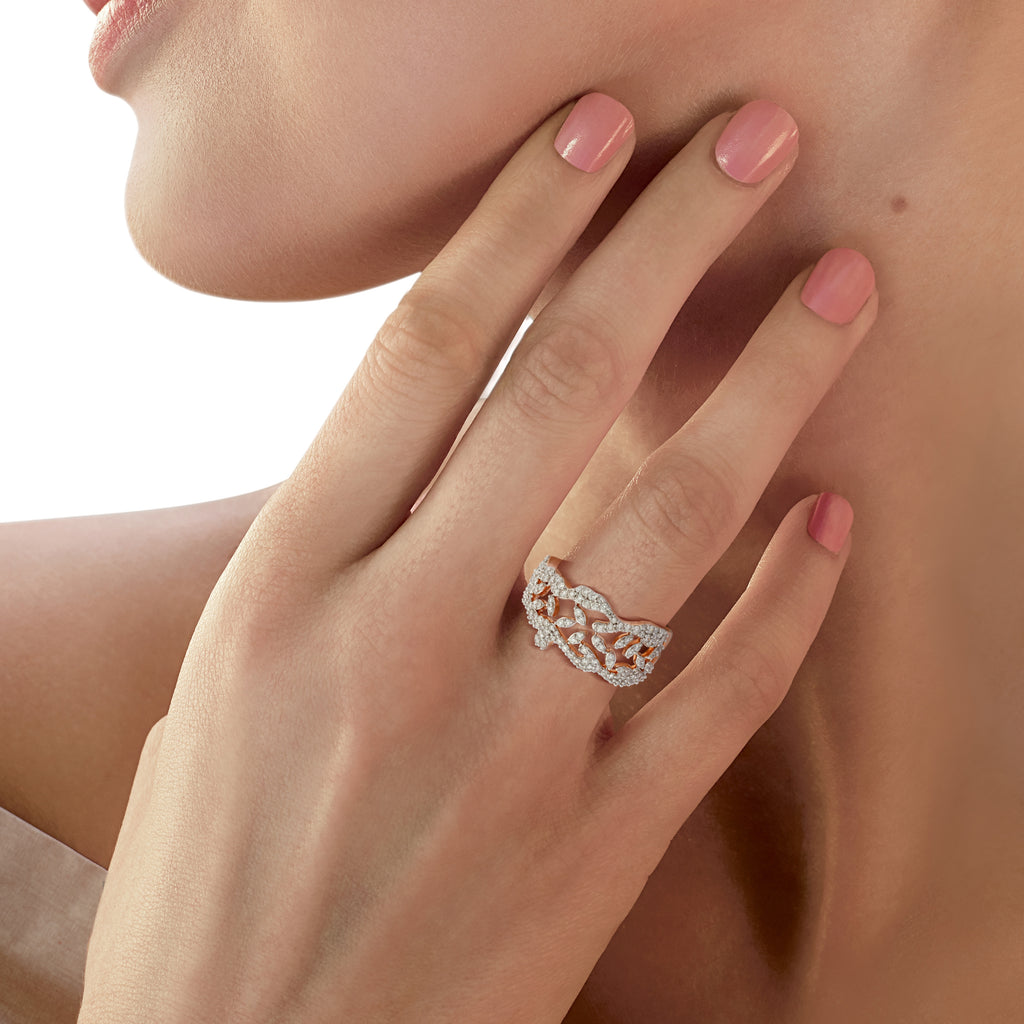 Lady Earth Floris Diamond Ring