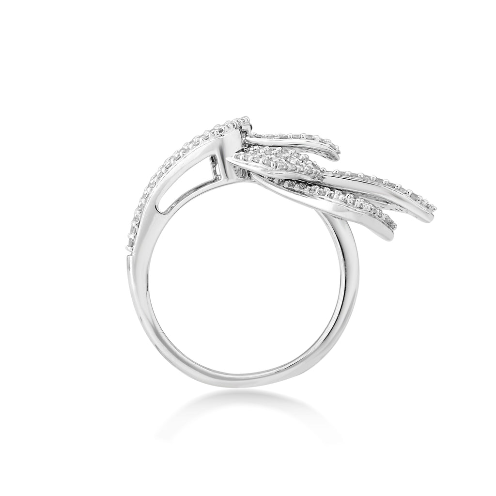 Skyward Bound Winged Diamond Ring